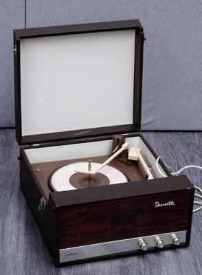 Vintage Dansette cased record player