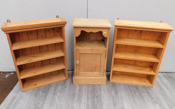 3x pine cupboards