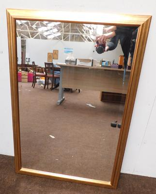 Large bevelled edge pine mirror