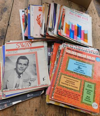 Large selection of vintage sheet music