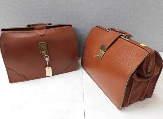 Two Gladstone doctors bags with keys