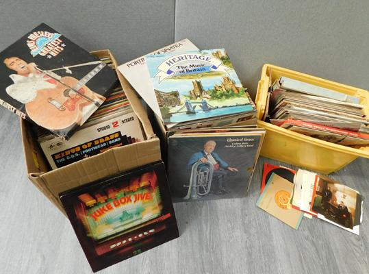 3 x boxes of LP albums & some singles