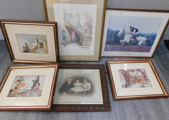 Russell Flint prints x 3 - with others