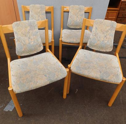 Four mid-century Ercol chairs - dining