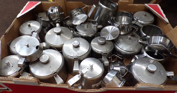 Large assortment of metal kitchenware