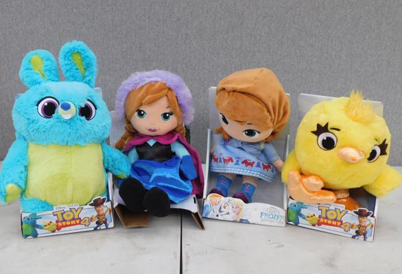 Four new Disney soft toys - Toy Story 4 & Frozen
