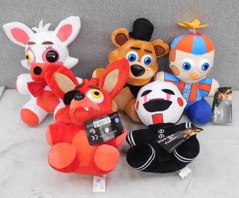 Five Nights at Freddys new soft toys