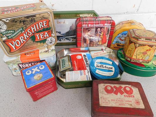 Collection of tins, some vintage