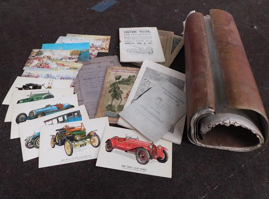 Selection of vintage books & postcards, depicting military scenes + book dated 1854
