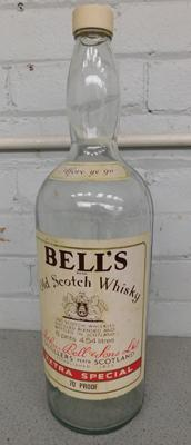 "Large bells whisky bottle (approx 20"")"