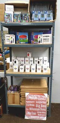 Large selection of new items including PDAs Vape kits, paddling pools etc.