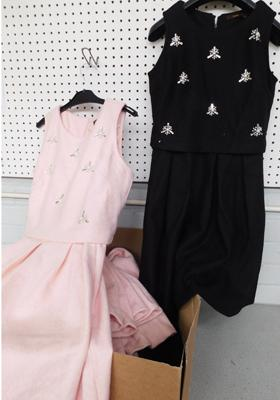 10 Soma of London Starry Beads dresses, various sizes - black & pink