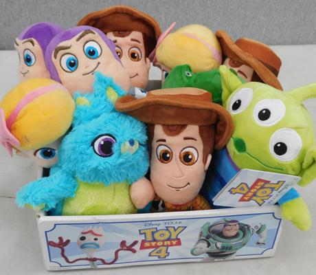 Box of ten new Toy Story 4 soft toys