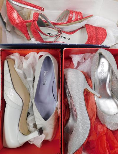 Three boxed pairs of fashion shoes