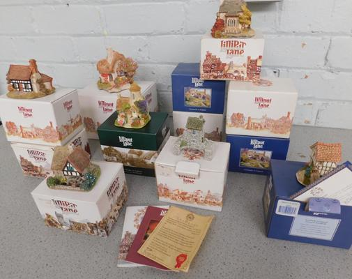 Large collection of Lilliput lane boxed & unboxed figures, incl certificates, mainly good condition, some nicks on unboxed items