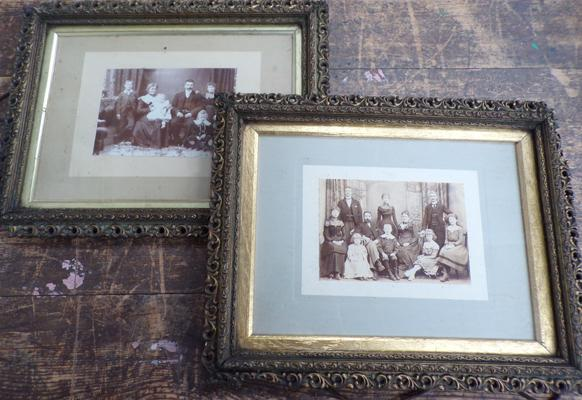 Pair of antique framed photographs