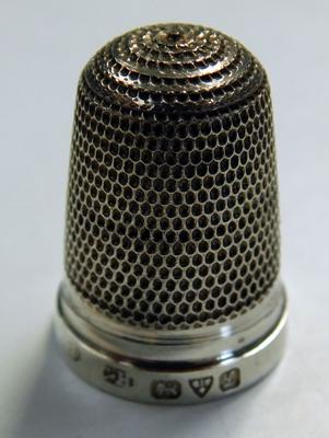 1911 silver thimble by Charles Horner