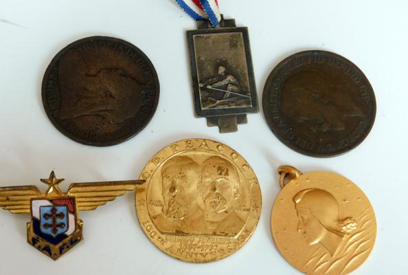 Collection of military medals/badges