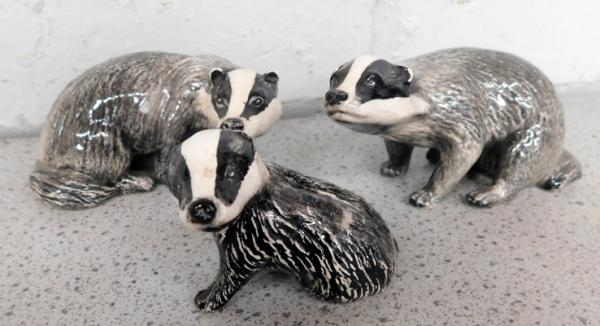 Beswick Badger family in perfect condition