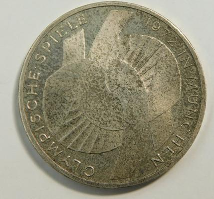 1972 German Olympic silver 10 Marks