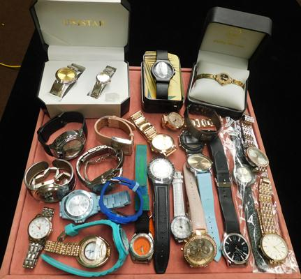 Assortment of watches, incl ladies, gents & childrens