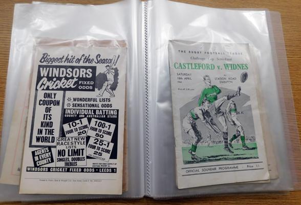 Folder of mixed Rugby League Programmes, 1960s