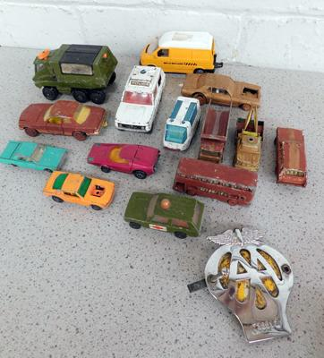 Collection of diecast, incl. Matchbox, Lesney, Corgi & Motor Badge (some hand painted)