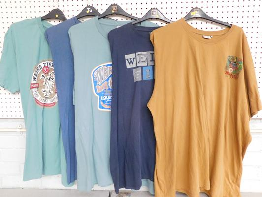 5x Vintage Weird Fish XXL t-shirts incl. Lonely Heart club band design