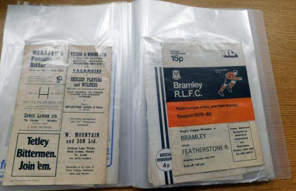 Folder of mixed Rugby League Programmes, 1970s