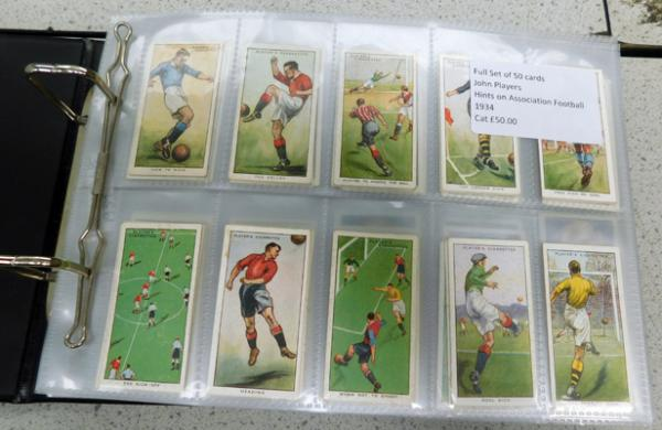 12 full sets of cigarette & trade cards