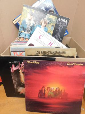 Selection of approx. 60 LPs, incl. Uriah Heep, David Bowie, Lou Reed,The Kinks