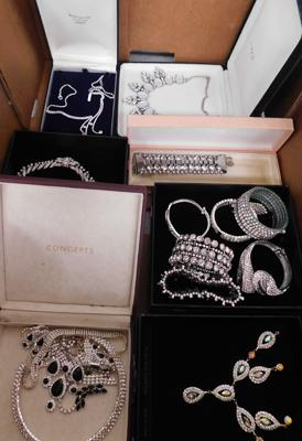 Assortment of  boxed of Bling costume jewellery