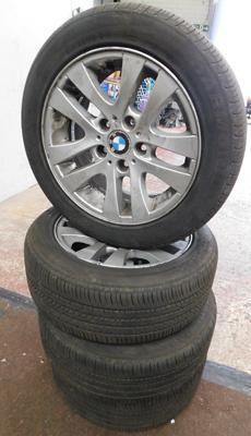 4x BMW alloy wheels and tyres - 205/55R16 91V