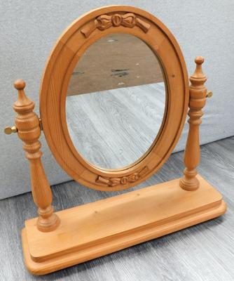 Pine table top/dressing table mirror