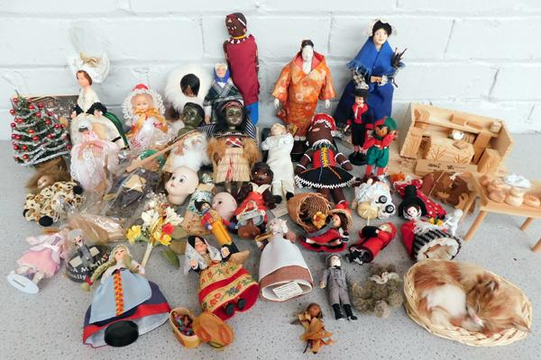 Large collection of dolls from around the world