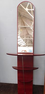 IKEA cherry wood mirror  wall unit - approx. 66 inches tall