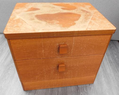 Stag light coloured bedside drawers