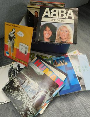 Records - picture sleeves, 45s, incl. ABBA, OMD & Echo & the Bunnymen