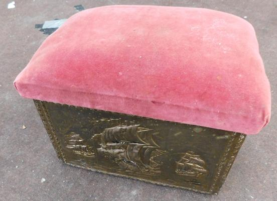 Brass covered seat