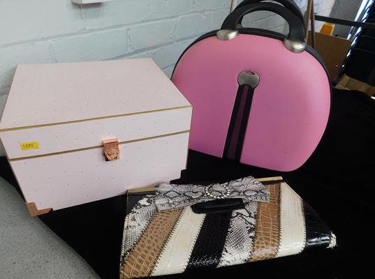 Ted Baker box, evening bag and travel bag