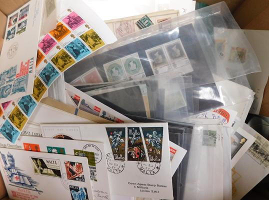 Carton containing huge quantity of stamps, covers etc.