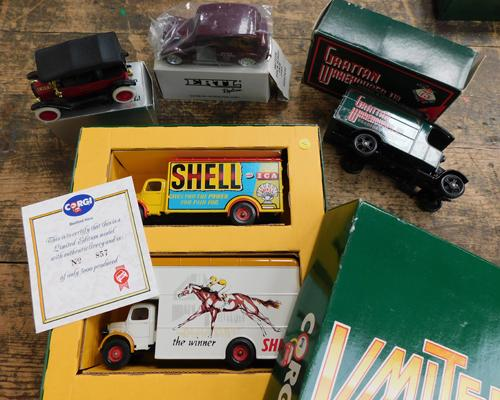 Corgi ltd. edition Bedford Vans (no.857) with certificate and 3x other boxed vehicles