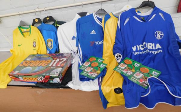 Football shirts - adult sizes and game & fridge magnets