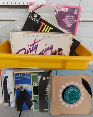 Mixed box of LPs & singles