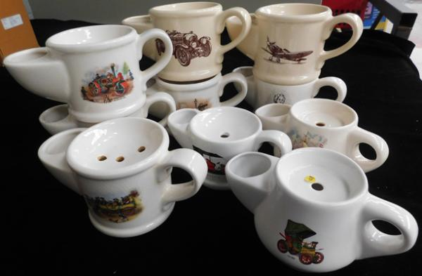 Large selection of Wade shaving cups (10)