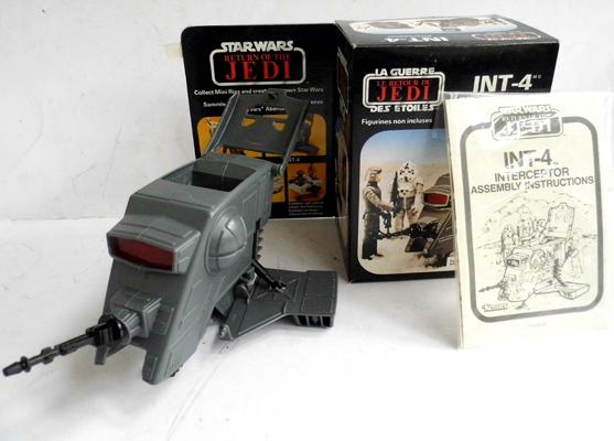 Star Wars INT-4 Interceptor complete with original box and instructions. Mint in near mint box, never displayed comes with cardboard innards, instructions and unapplied stickers
