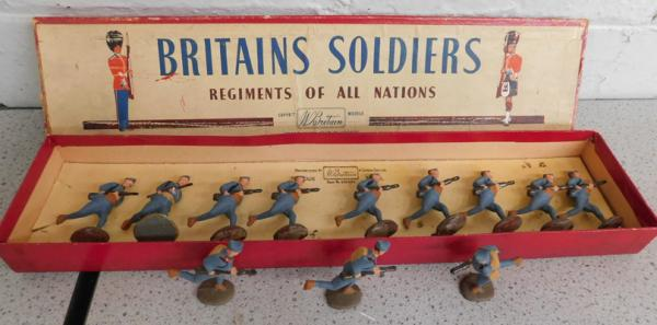 Steadfast hand painted metal soldiers-British infantry 1915-1918 (charging) 5.4cm