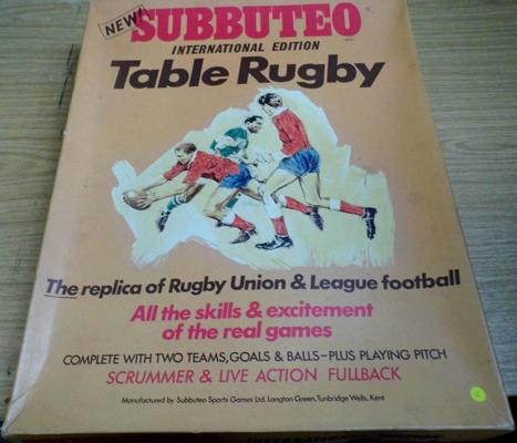 Subbuteo International Edition Table Rugby