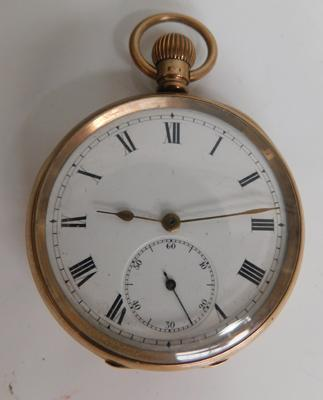 9ct gold cased pocket watch