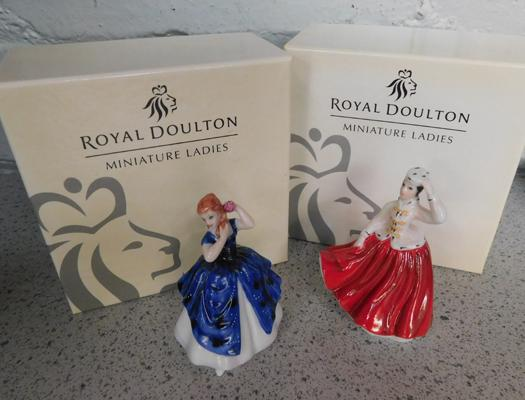 2x Royal Doulton miniatures, in boxes